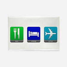 Eat, Sleep, Pilot Rectangle Magnet