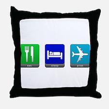 Eat, Sleep, Pilot Throw Pillow