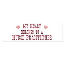 Belongs to Nurse Practitioner Bumper Bumper Sticker