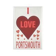 I Love Portsmouth Rectangle Magnet