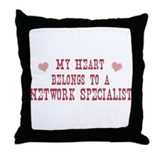 Belongs to Network Specialist Throw Pillow