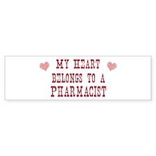Belongs to Pharmacist Bumper Bumper Sticker