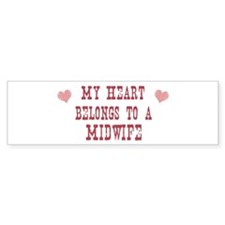 Belongs to Midwife Bumper Car Sticker