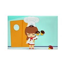 Yummy Chibi Cupcakes Rectangle Magnet