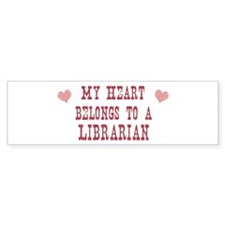 Belongs to Librarian Bumper Car Sticker
