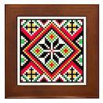 Folk Design 1 Framed Tile