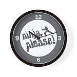 Ninja, Please! Wall Clock