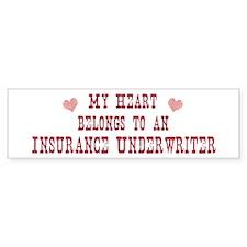 Belongs to Insurance Underwri Bumper Bumper Sticker