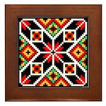 Folk Design 2 Framed Tile