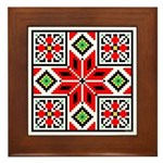 Folk Design 3 Framed Tile