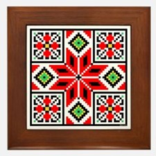 Folk Design 3 Framed Tile