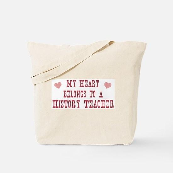Belongs to History Teacher Tote Bag