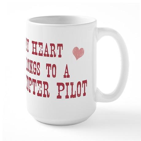 Belongs to Helicopter Pilot Large Mug