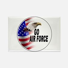 Go Air Force Rectangle Magnet
