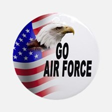 Go Air Force Ornament (Round)