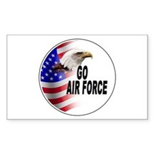 Go Air Force Rectangle Decal
