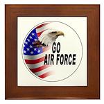 Go Air Force Framed Tile
