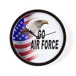 Go Air Force Wall Clock