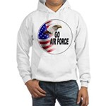 Go Air Force (Front) Hooded Sweatshirt