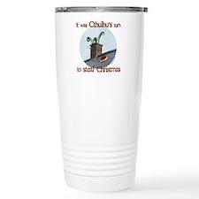 Cthulhu stole christmas Travel Mug