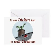 Cthulhu stole christmas Greeting Cards (Pk of 10)