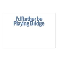 I'd Rather be Playing Bridge Postcards (Package of