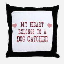Belongs to Dog Catcher Throw Pillow