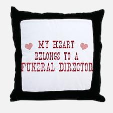 Belongs to Funeral Director Throw Pillow
