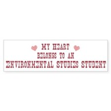 Belongs to Environmental Stud Bumper Bumper Sticker