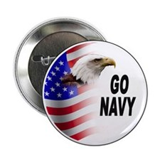 "Go Navy 2.25"" Button (10 pack)"