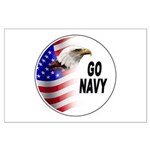 Go Navy Large Poster