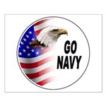 Go Navy Small Poster