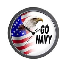 Go Navy Wall Clock