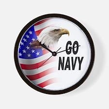 Go Navy Wall Clock