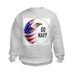 Go Navy (Front) Kids Sweatshirt