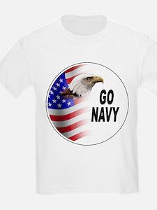 Go Navy (Front) Kids T-Shirt