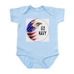 Go Navy Infant Creeper
