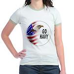 Go Navy (Front) Jr. Ringer T-Shirt