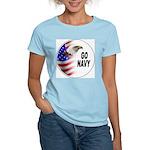 Go Navy Women's Pink T-Shirt