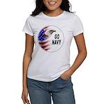 Go Navy (Front) Women's T-Shirt