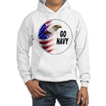 Go Navy Hooded Sweatshirt