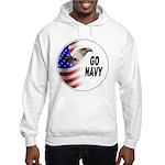Go Navy (Front) Hooded Sweatshirt