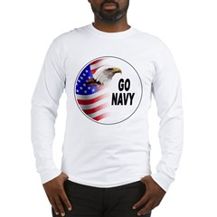 Go Navy (Front) Long Sleeve T-Shirt