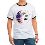 Go Navy Ringer T