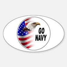 Go Navy Oval Decal