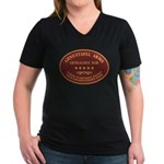 Ahnentafel Arms Women's V-Neck Dark T-Shirt