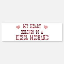 Belongs to Diesel Mechanic Bumper Bumper Bumper Sticker