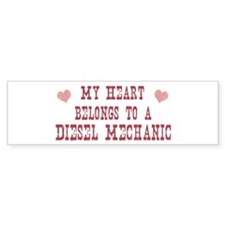 Belongs to Diesel Mechanic Bumper Bumper Sticker
