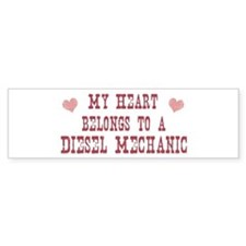 Belongs to Diesel Mechanic Bumper Car Sticker