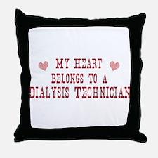 Belongs to Dialysis Technicia Throw Pillow